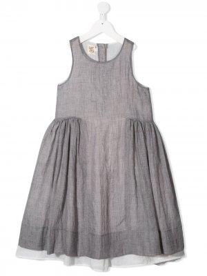 Caffe Dorzo расклешенное платье Carlotta Caffe' D'orzo. Цвет: серый