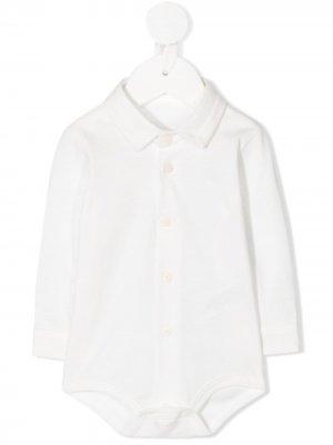 Рубашка поло с длинными рукавами Il Gufo. Цвет: белый