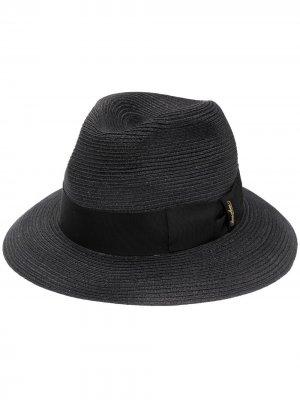 Шляпа-федора с лентой Borsalino. Цвет: черный
