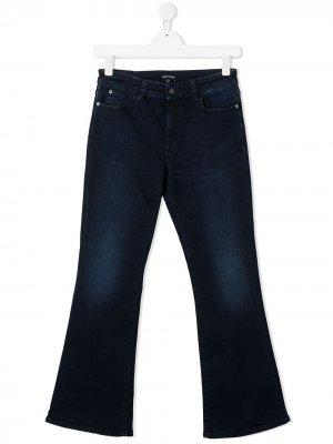 Расклешенные джинсы Emporio Armani Kids. Цвет: синий