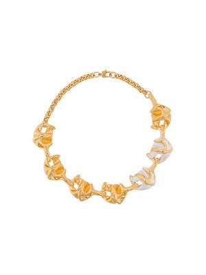 Массивное ожерелье Lily Marni. Цвет: золотистый