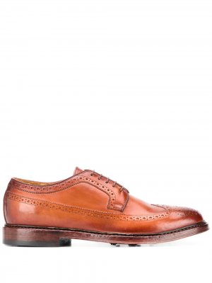 Броги на шнуровке Officine Creative. Цвет: коричневый