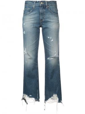 Укороченные джинсы Rhett Ag Jeans. Цвет: синий