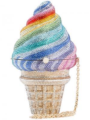 Сумка Rainsbow Ice Cream Judith Leiber Couture. Цвет: металлический