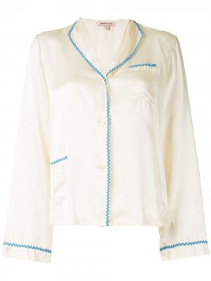 Пижамная рубашка Mimi Morgan Lane. Цвет: желтый
