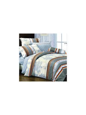 Постельное белье Piccadilly 1,5 сп. Amore Mio. Цвет: голубой, молочный, оранжевый, серый