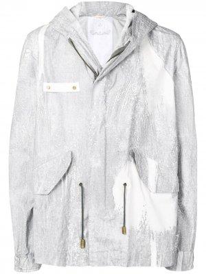 Куртка-дождевик с капюшоном Mr & Mrs Italy. Цвет: белый