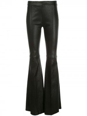 Расклешенные брюки Rosetta Getty. Цвет: черный