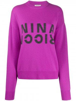 Джемпер с логотипом Nina Ricci. Цвет: фиолетовый
