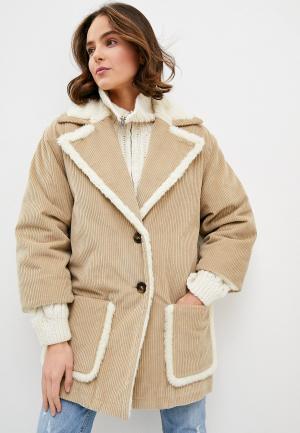Куртка утепленная LAutre Chose L'Autre. Цвет: бежевый