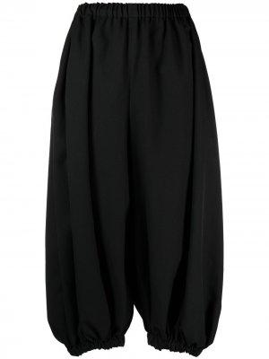 Укороченные брюки-шаровары Comme Des Garçons. Цвет: черный