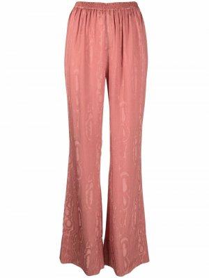 Жаккардовые расклешенные брюки Aeron. Цвет: коричневый