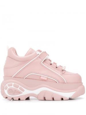 Кроссовки на ребристой подошве Buffalo. Цвет: розовый