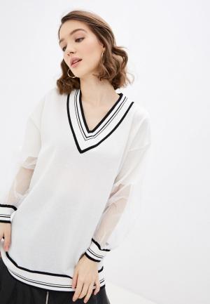 Пуловер Pinko. Цвет: белый