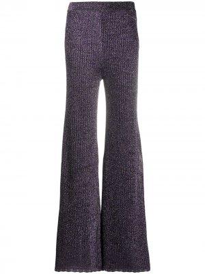 Трикотажные брюки широкого кроя M Missoni. Цвет: фиолетовый
