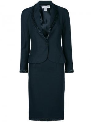 Костюм с юбкой и отделкой pre-owned Christian Dior. Цвет: синий