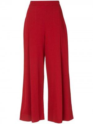 Укороченные брюки Equinox широкого кроя Ginger & Smart. Цвет: красный