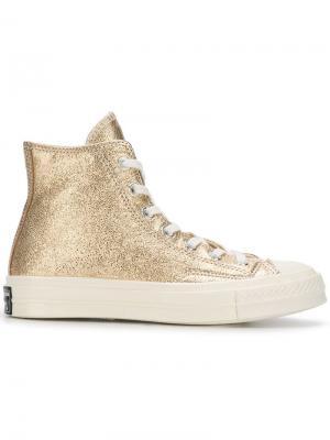 Chuck Taylor high-top sneakers Converse. Цвет: металлик