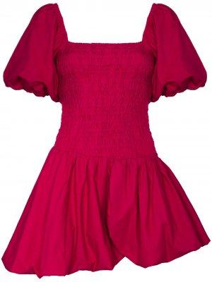 Платье мини Palace Garden LoveShackFancy. Цвет: розовый