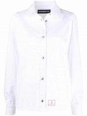 Куртка-рубашка с нашивкой-логотипом Department 5. Цвет: белый