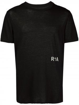 Футболка с круглым вырезом и логотипом RtA. Цвет: черный