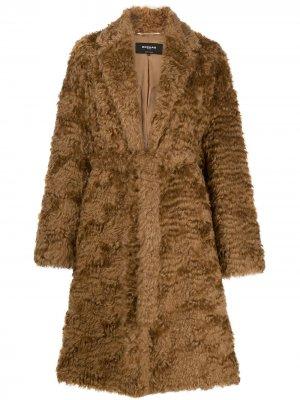 Пальто ворсистой фактуры Rochas. Цвет: нейтральные цвета