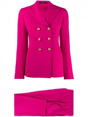 Костюм с двубортным пиджаком Tagliatore. Цвет: розовый