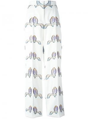 Брюки с вышивкой Emilio Pucci. Цвет: нейтральные цвета