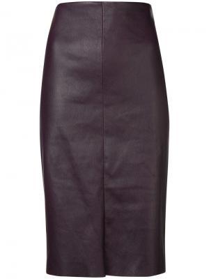 High waisted pencil skirt Drome. Цвет: фиолетовый