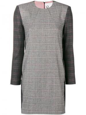 Blake checked dress 8pm. Цвет: серый