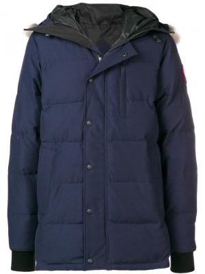 Hooded puffer jacket Canada Goose. Цвет: синий