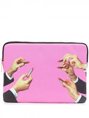 Чехол для ноутбука с принтом Seletti. Цвет: розовый