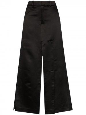 Юбка макси с боковым разрезом A.W.A.K.E. Mode. Цвет: черный