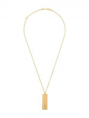 Цепочка на шею с подвеской-логотипом AMBUSH. Цвет: золотистый