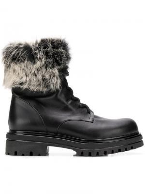 Fur trim boots Albano. Цвет: черный