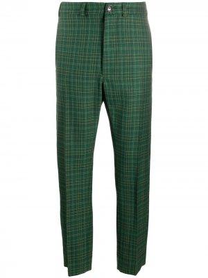 Строгие брюки прямого кроя в клетку Vivienne Westwood Anglomania. Цвет: зеленый
