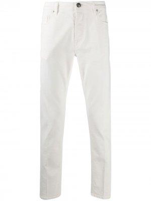 Прямые джинсы Goodwin Tagliatore. Цвет: белый