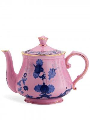 Чайник Oriente Italiano GINORI 1735. Цвет: розовый