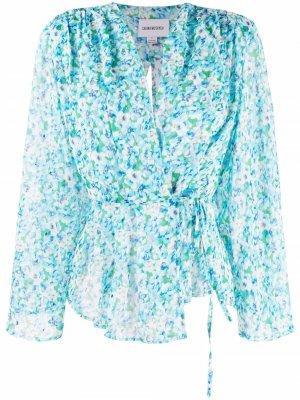 Блузка Arlene с цветочным принтом Sabina Musayev. Цвет: зеленый