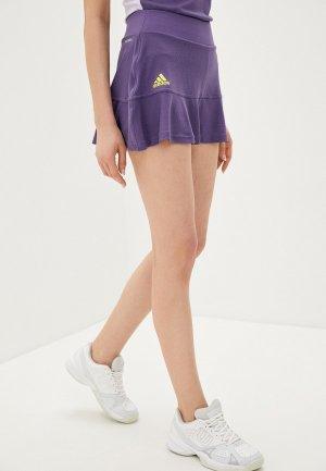 Юбка-шорты adidas. Цвет: фиолетовый
