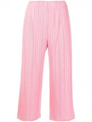 Укороченные плиссированные брюки Pleats Please Issey Miyake. Цвет: розовый