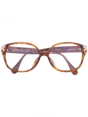 Солнцезащитные очки в черепаховой оправе Christian Lacroix Vintage. Цвет: коричневый