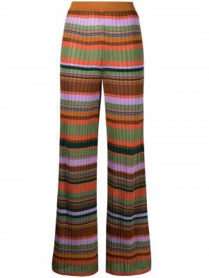 Прямые брюки в полоску M Missoni. Цвет: оранжевый
