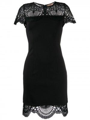 Платье с кружевными вставками TWINSET. Цвет: черный