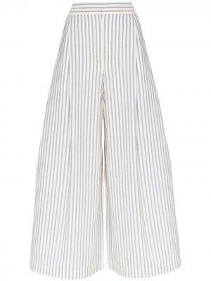Укороченные брюки широкого кроя Vika Gazinskaya. Цвет: синий