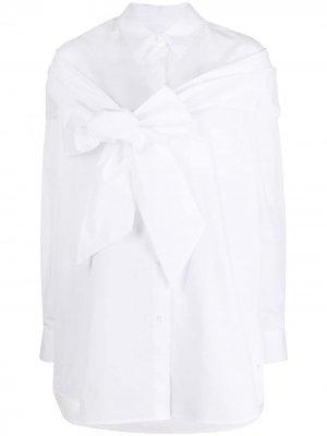 Рубашка с бантом Simone Rocha. Цвет: белый
