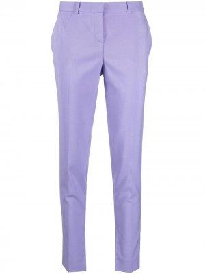 Укороченные брюки прямого кроя Versace. Цвет: фиолетовый