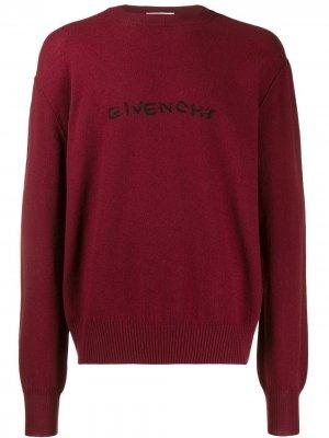 Джемпер с вышитым логотипом Givenchy. Цвет: красный