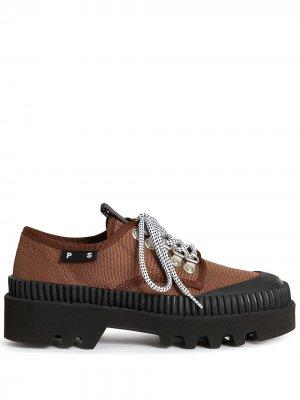 Туфли на шнуровке Proenza Schouler. Цвет: коричневый