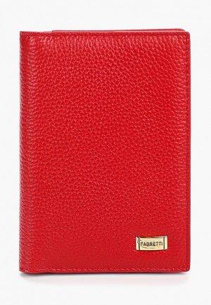 Обложка для паспорта Fabretti. Цвет: красный